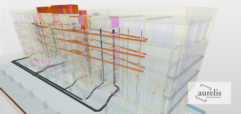 BIM Modell des Projeks Ehrenveedel in Köln-Ehrenfeld