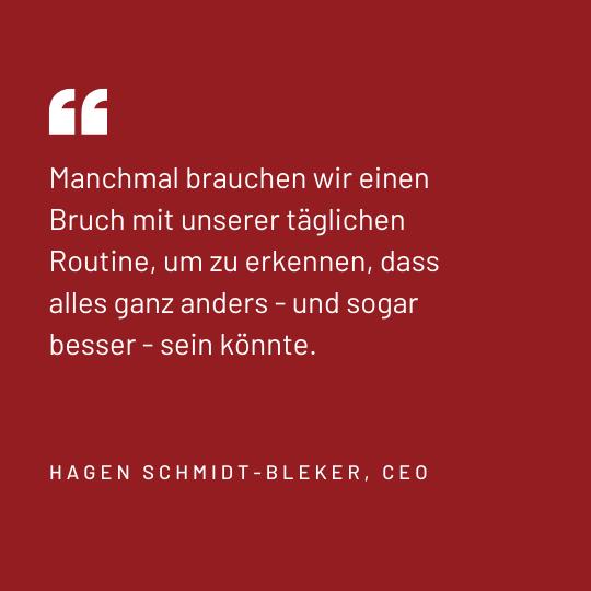 Zitat Hagen Schmidt-Bleker, CEO